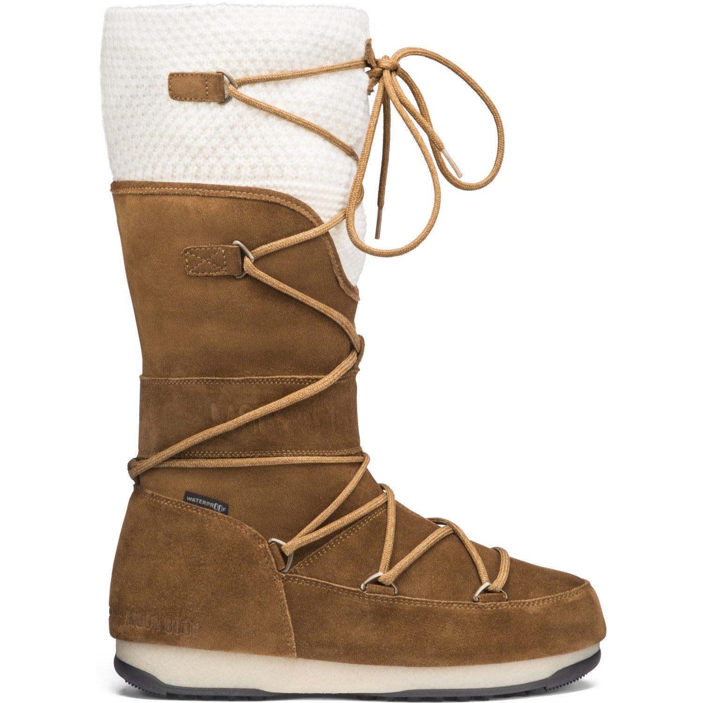 Moon Boot We Anversa Wool WP Womens Boots 8 B(M) US Women Whisky Cream