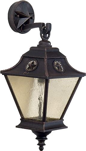 Craftmade Z1404-RT Chaparral Outdoor Wall Mount Sconce Lighting, 1-Light, 100 Watts, Rust 8 W x 20 H
