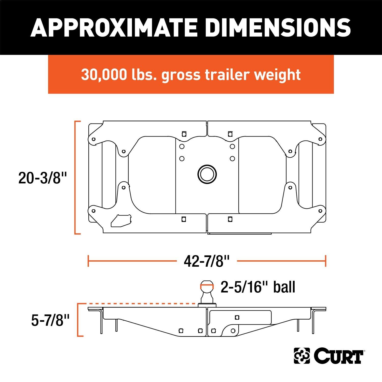 CURT 60700 Original-Equipment-Style Gooseneck Hitch Super Duty, 30,000 lbs, 2-5/16-Inch Ball OEM Ford by CURT