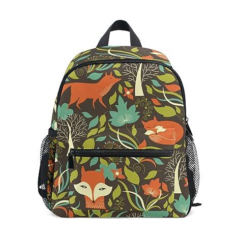COOSUN Patrón Fox Kids Kinder Mini Mochila preescolar bolsa del niño Multicolor