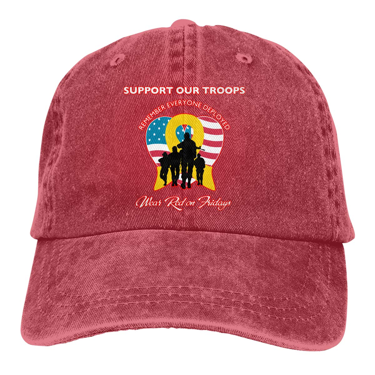 Unisex Remember Everyone Deployed 2 Vintage Washed Dad Hat Cool Adjustable Baseball Cap