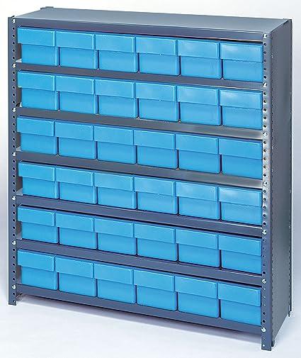 Sistema de almacenamiento de estantería cerrada con cajones ...