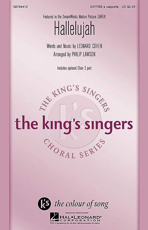 Hallelujah (from Shrek) - SATTBB - CHORAL SCORE: Amazon.es ...