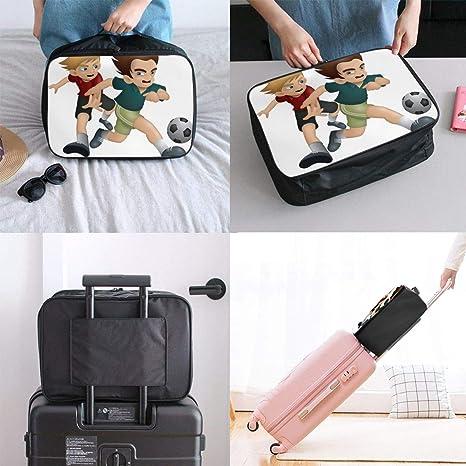 Travel Bags Winter Forest Portable Handbag Trolley Handle Luggage Bag