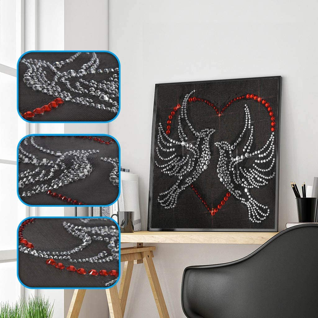 Cat 25X25cm Wenini Fluorescent Diamond Painting DIY 5D Partial Drill Cross Stitch Kits Crystal Rhinestone of Picture Diamond Embroidery Arts Craft for Home Wall Decor