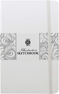 Pentalic Illustrators Sketchbook, 8-Inch by 5-Inch, White Chocolate