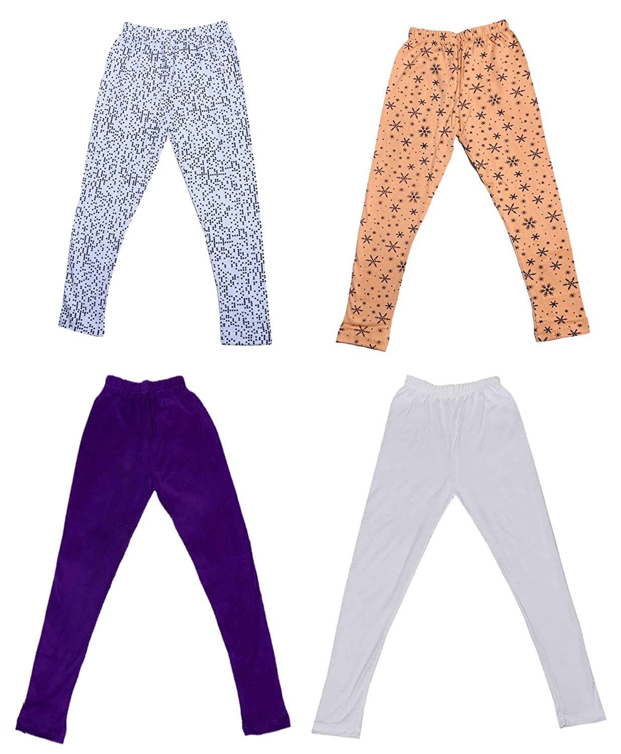 /_Multicolor/_Size-4-5 Years/_71402031921-IW-P4-26 and 2 Cotton Printed Legging Pants Pack Of 4 Indistar Girls 2 Cotton Solid Legging Pants