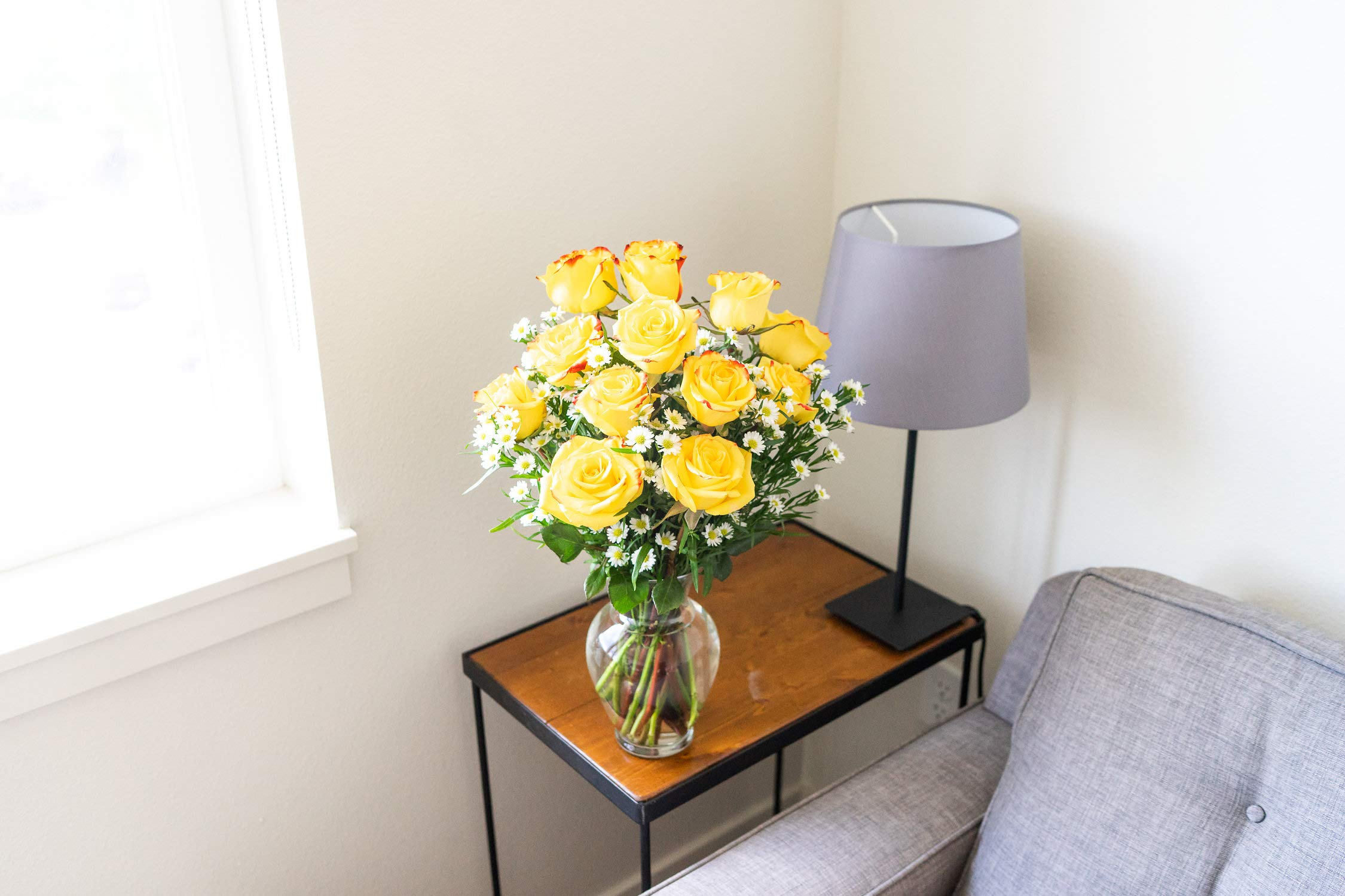 Flowers - One Dozen Festive Roses (Free Vase Included) by From You Flowers (Image #4)