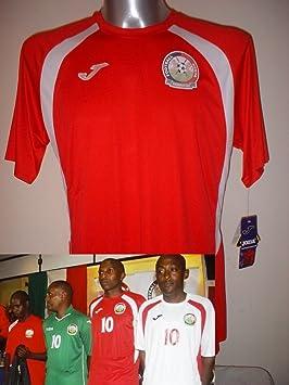 Kenia T África Grande XL Nuevo Fútbol Camiseta Jersey Camiseta Maillot de Manga Larga Rojo Naciones Africana: Amazon.es: Deportes y aire libre
