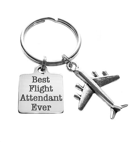 Amazon.com: Best Flight attendant Ever Llavero Bolsa ...