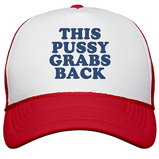 7a409526463 Amazon.com  FUNNYSHIRTS.ORG Anti-Trump Pussy Grabs Back Hat ...