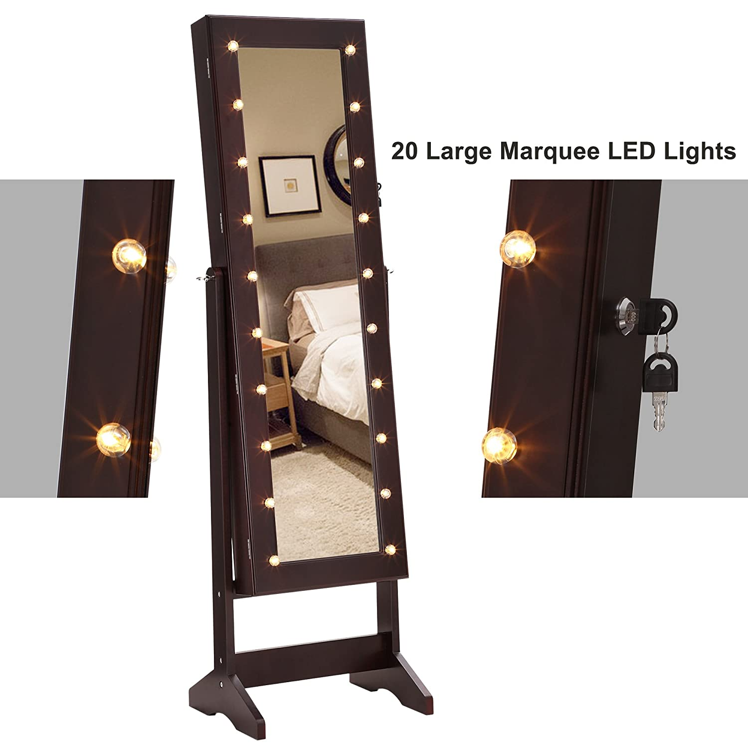 Best Of Jewelry Cabinet Mirror with Led Lights