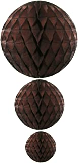 product image for Brown Honeycomb Balls, Set of 3 (12 inch, 8 inch, 5 inch)