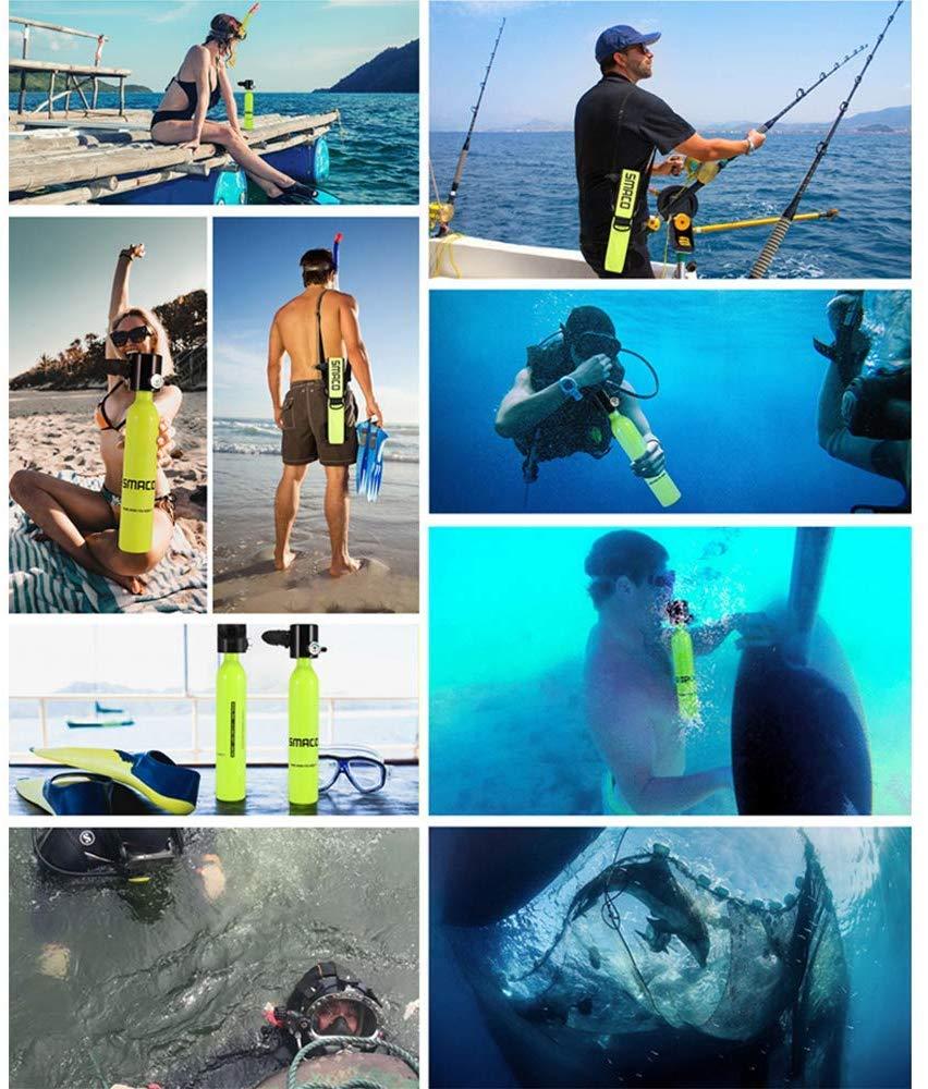 Qians Scuba Diving Tank Equipo de Tanque 10 Minutos Scuba Tank Refill Adaptador para Buceo respiraci/ón Entrenamiento Mini Scuba Cylinder Alta presi/ón Bomba de Aire con 5