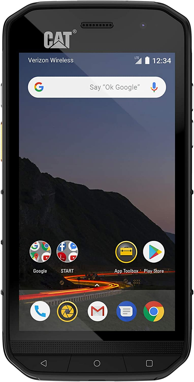 Amazon Com Cat Phones S48c Unlocked Rugged Waterproof Smartphone Verizon Network Certified Cdma U S Optimized Single Sim With 2 Year Warranty Including 2 Year Screen Replacement Cs48sabnamunod Black