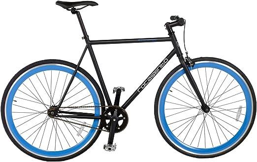 Rocasanto Bike - Bicicleta Fixie v, tamaño 54, Color Negro/Azul ...