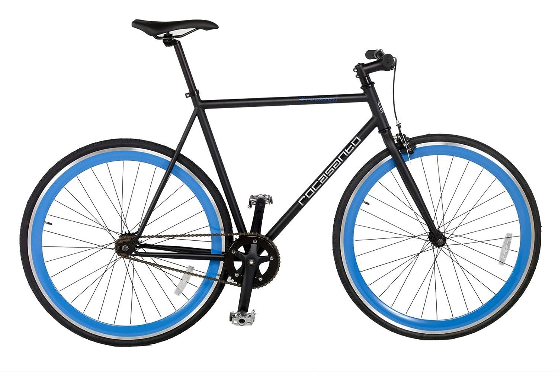 Rocasanto Bike - Bicicleta fixie v, tamaño 57, color negro/azul ...