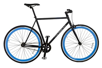 Rocasanto Bike - Bicicleta fixie v, tamaño 54, color negro/azul: Amazon.es: Deportes y aire libre