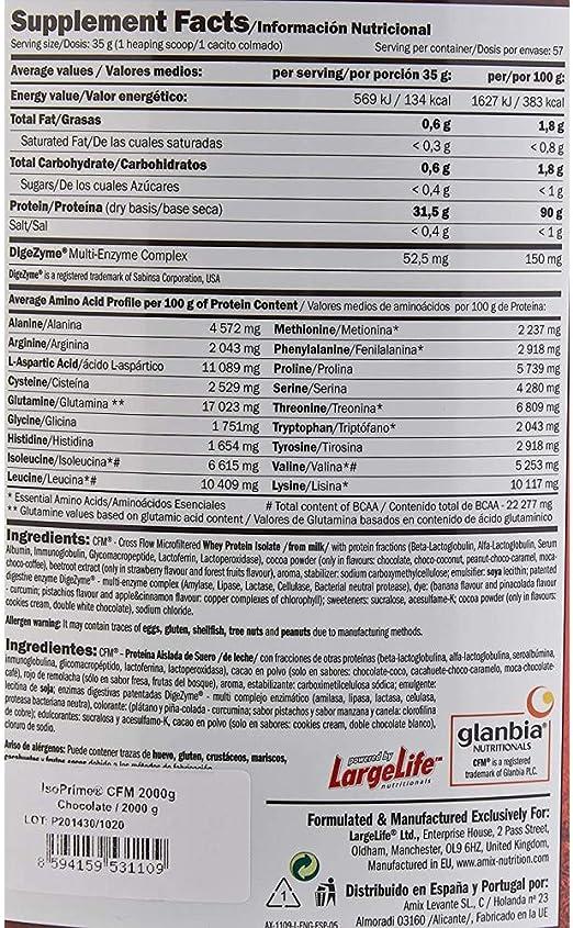AMIX Isoprime Cfm Isolate 2 Kg Chocolate 2 2000 g