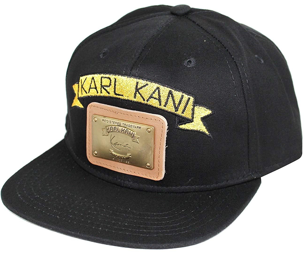 Karl Kani Gold Plate Snapback Embroidered Hat Black White Red Tan at Amazon  Men s Clothing store  b64deefb1053