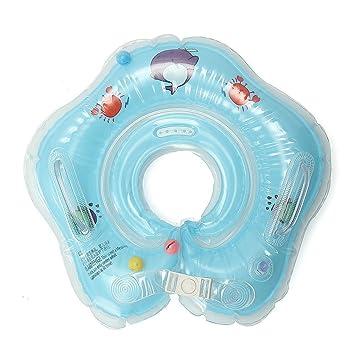 mimieyes natación Anillo Ajustable inflable para bebé cuello traje flotador flotador para 1 - 18 meses bebé, azul: Amazon.es: Deportes y aire libre
