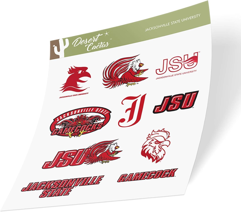 Jacksonville State University JSU Gamecocks NCAA Sticker Vinyl Decal Laptop Water Bottle Car Scrapbook (Type 2 Sheet)