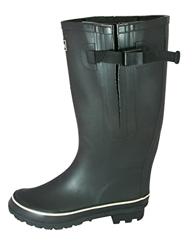 8d2062c3f56 Jileon Extra Wide Calf Rubber Black Rain Boots for Women-Widest Fit Boots  in The