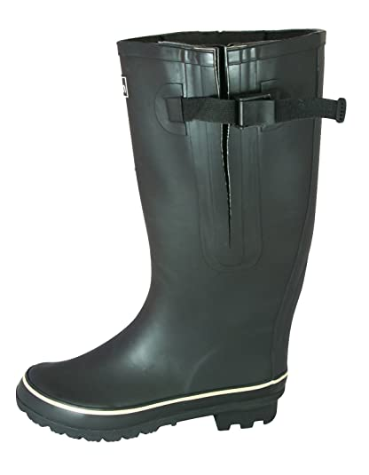 499de40ed0a7 Jileon Extra Wide Calf Rubber Black Rain Boots for Women-Widest Fit Boots  in The