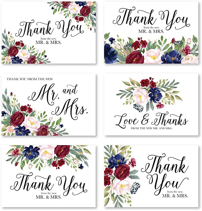 Tropical Flower Wedding Thank You Note Thank You Card Place Setting Thank You Templett #SPP082ty In Lieu of Favor Card Thank You Letter
