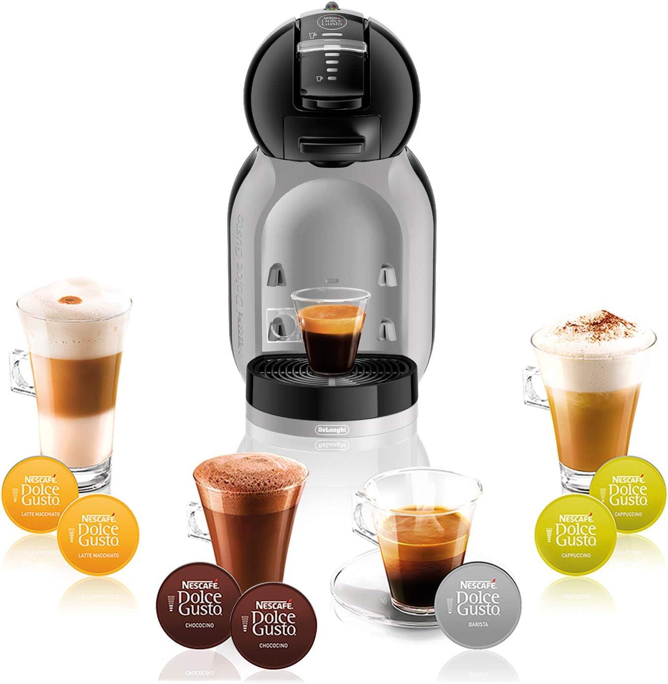 DeLonghi Dolce Gusto Mini Me EDG155.BG - Cafetera de cápsulas, 15 bares de presión, color gris y negro: Amazon.es: Hogar