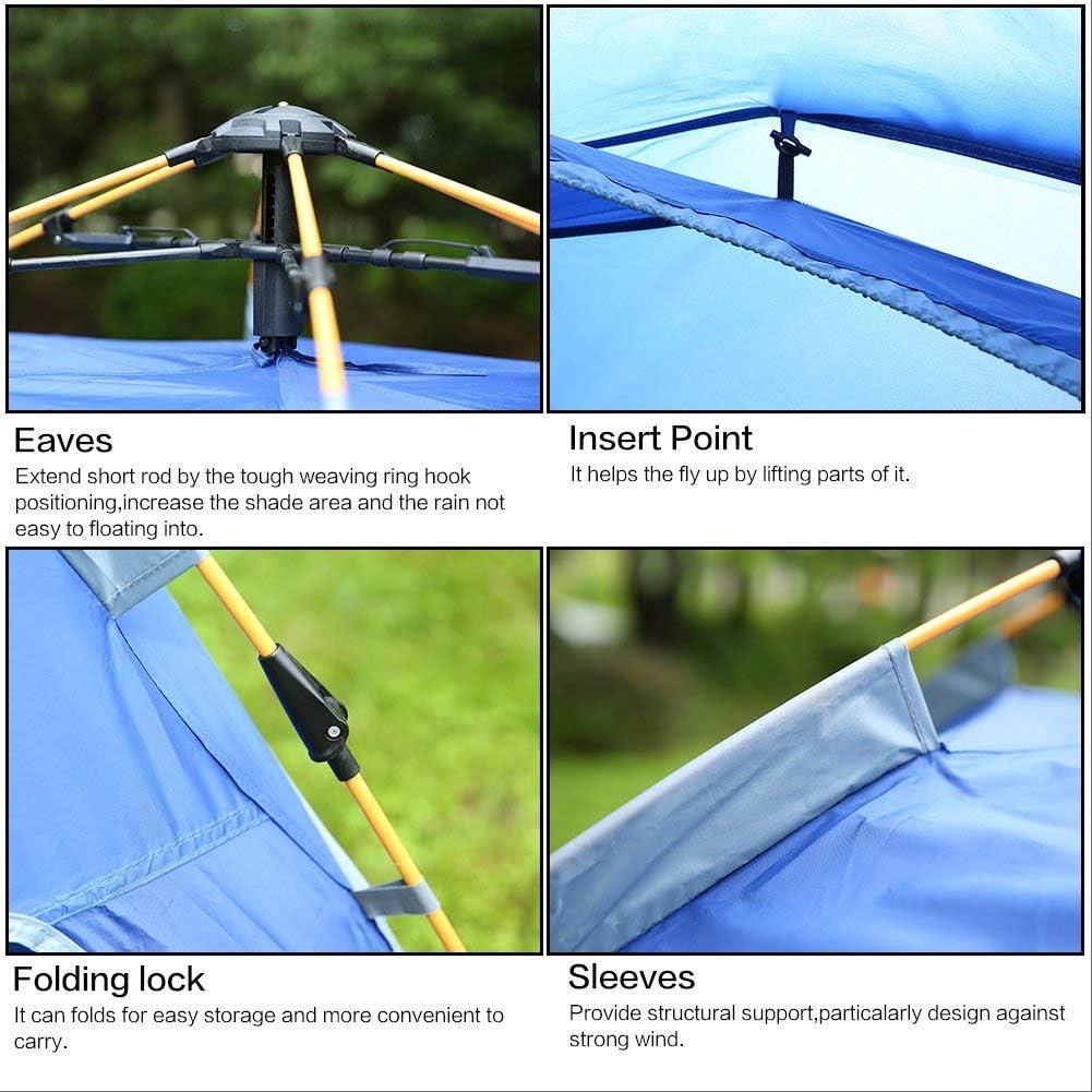 Tiendas de campaña LIUSIYU Pop Up automático 2-3-4 4 Estaciones Anti-UV Impermeable a Prueba de Viento Ultraligero Camping Exterior Dome Tienda con Bolsa 4peopleDarkgreen