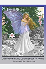 FAIRIES: Grayscale Fantasy Coloring Book for Adults Paperback