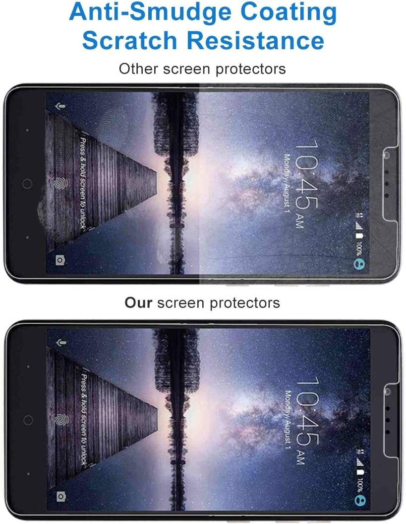No Retail Package Lihuoxiu Phone Screen Protectors 50 PCS for ZTE Zmax Pro 0.3mm 9H Surface Hardness Explosion-Proof Non-Full Screen Tempered Glass Screen Film