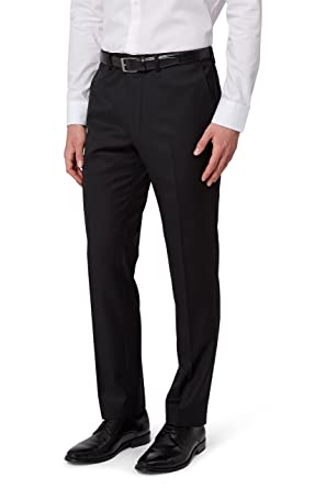 e14f4372fba5 Image Unavailable. Image not available for. Colour  French Connection Men`s Slim  Fit Black Suit Trousers