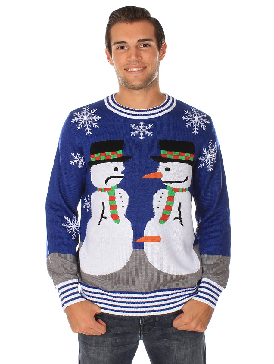 50cbba8cf Amazon.com  Tipsy Elves Ugly Christmas Sweater - Snowman Nose Thief Sweater   Clothing