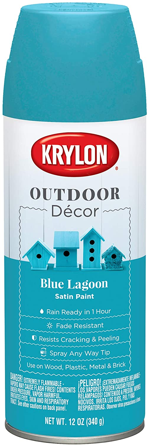 Krylon Outdoor Décor Spray Paint, Blue Lagoon