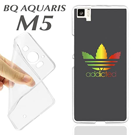 K177 FUNDA CARCASA BQ AQUARIS M5 BLANDA GEL TPU ADDICTED ...