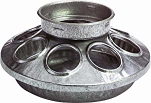 Miller Manufacturing 9810 Round Jar Galvanized Feeder Base for Birds, 1-Quart