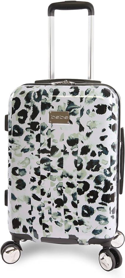 "BEBE Women/'s Adriana 21/"" Hardside Carry-on Spinner Luggage Leopard"