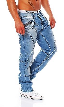 Cipo   Baxx - C-0894-A - Regular Fit - Dicke Naht - Men Herren Jeans Hose   Amazon.de  Bekleidung 07cb2a1705