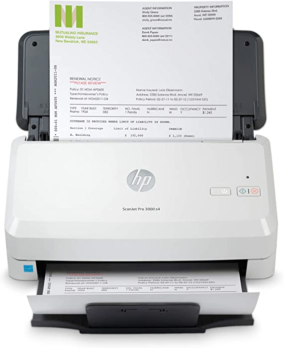 HP ScanJet Pro 3000 s4 Sheet-Feed Scanner (6FW07A), Light Grey, Small