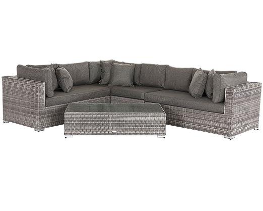 Rattan Direct Juego de sofá de esquina de ratán modular para ...