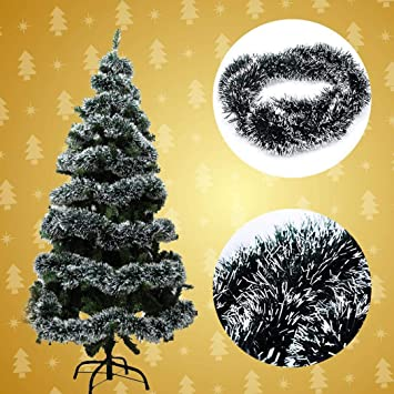 Nisels Adornos navideños Colgantes, Verde Oscuro, Blanco, Adornos navideños, 1,8 m: Amazon.es: Hogar
