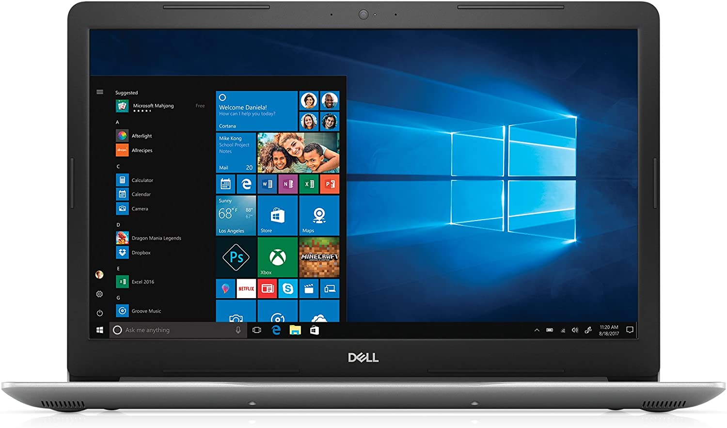 "Dell i5770-5463SLV-PUS Inspiron - 8th Gen Intel Core i5 - 8GB Memory - 1TB Hard Drive - Intel UHD Graphics 620, 17.3"" HD+LED Display, Platinum Silver"
