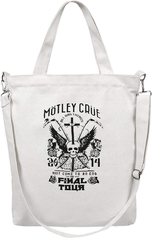 Women Canvas Tote Handbags Casual Crossbody Shoulder Bag Rock Music Group Member Poster Zipper Hobo bag