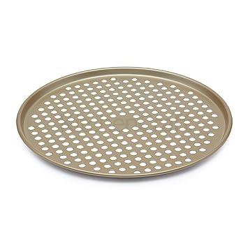 Kitchencraft Paul Hollywood Non Stick Pizza Crisper Tray 32 Cm 125 With Recipe