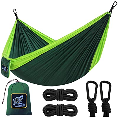 MIZTLI Hammock Camping with All The Installations, Portable & Lightweight Travel Parachute Hammock, Outdoor, Indoor, Backpacking, Hiking & Survival: Kitchen & Dining
