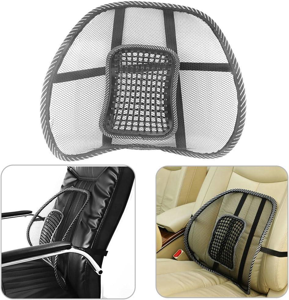 ONEVER Mesh Indietro Supporto ammortizzatore Brace lombare con massaggio per Office Home Auto sede della sedia Ventilare Pad