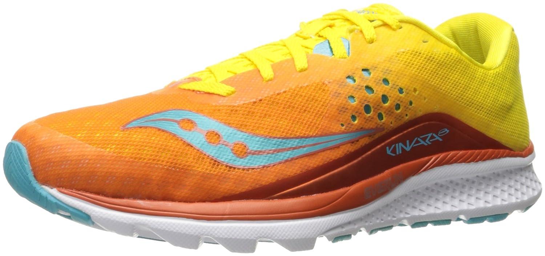 Saucony Women's Kinvara 8 Running Shoe B01GIQN2P4 12 B(M) US|Orange/Yellow/Blue