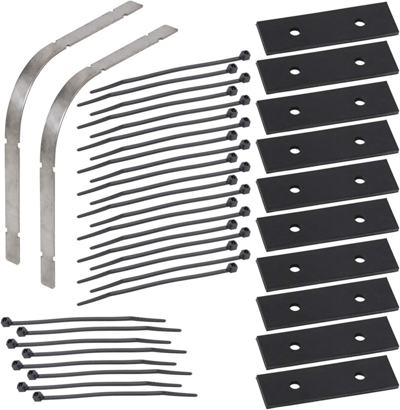 VOSS.eisfrei Knickschutz Set für Heizkabel inklusive Kabelbinder, aus Edelstahl, Frostschutz Kabelschutz Heizkabel Kabel Schutz kein Verknicken